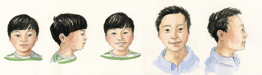 Boy and Father Character Study   Asian Family