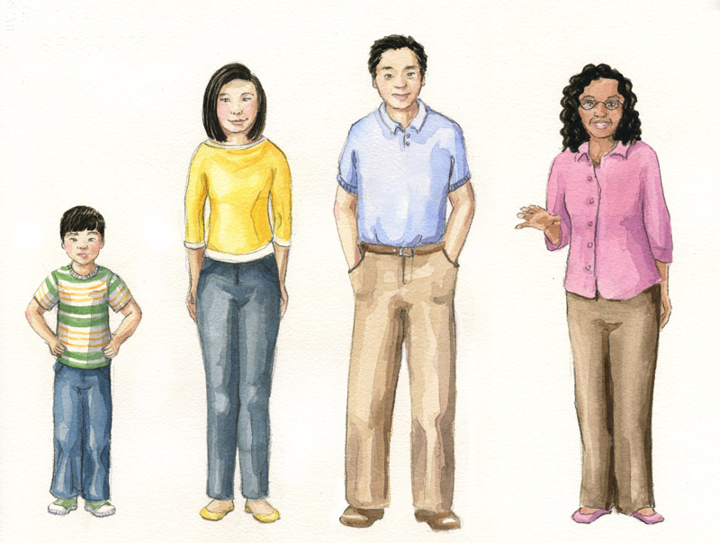 character lineup Character Study   Asian Family