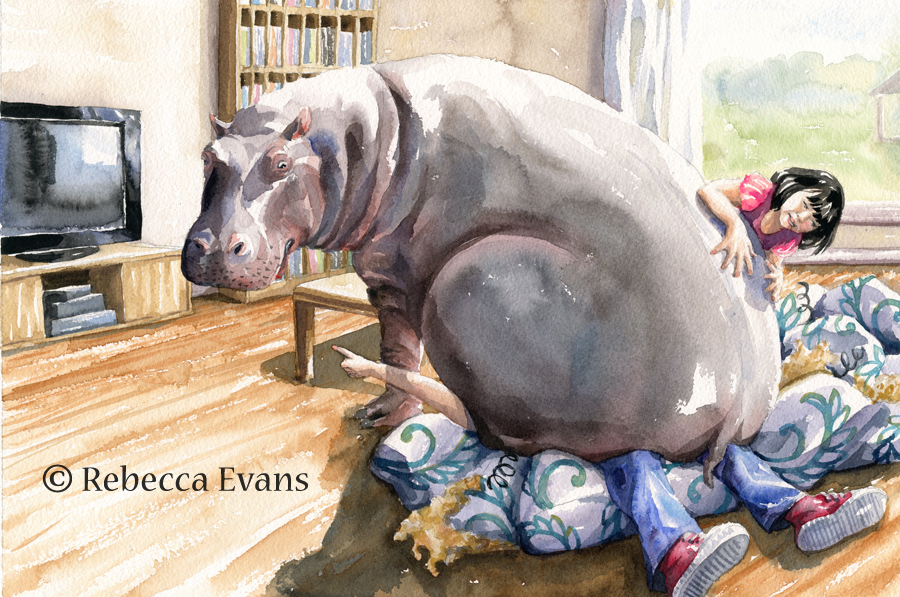 Rebecca Evans children's book illustration